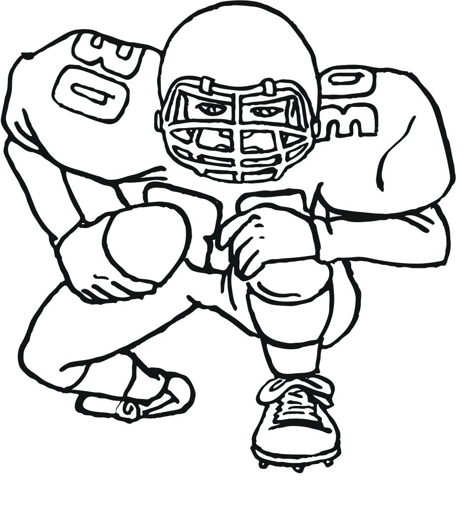 948x1078 Unique Football Printable Coloring Pages In Line Drawings 12
