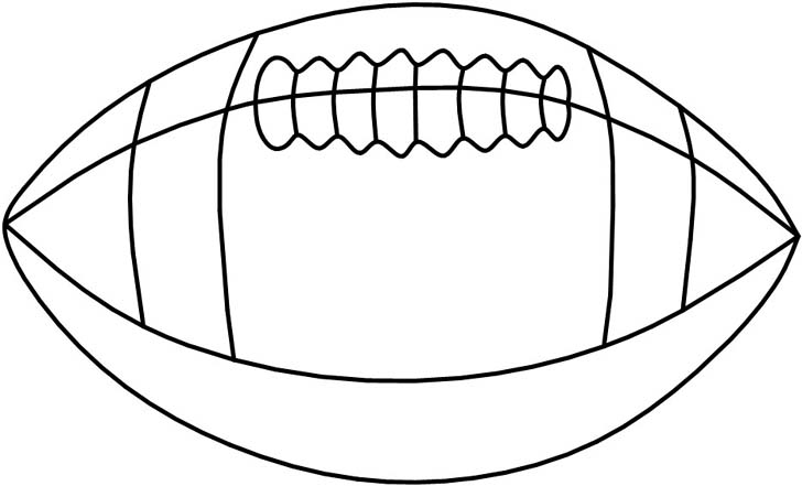 Football Outline Drawing