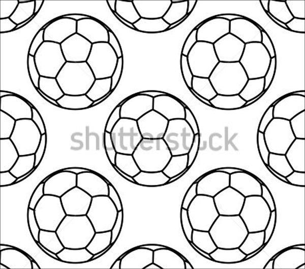600x528 9 football vectors - Football Outline