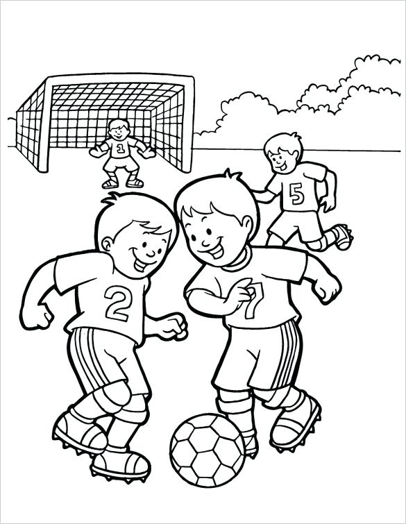 585x755 Play Football For Coloring Swimming Items For Coloring