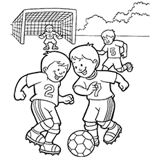 230x230 Soccer Ball Coloring Pages