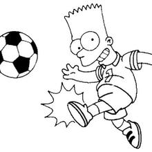 220x220 Bart Playing Football Coloring Pages