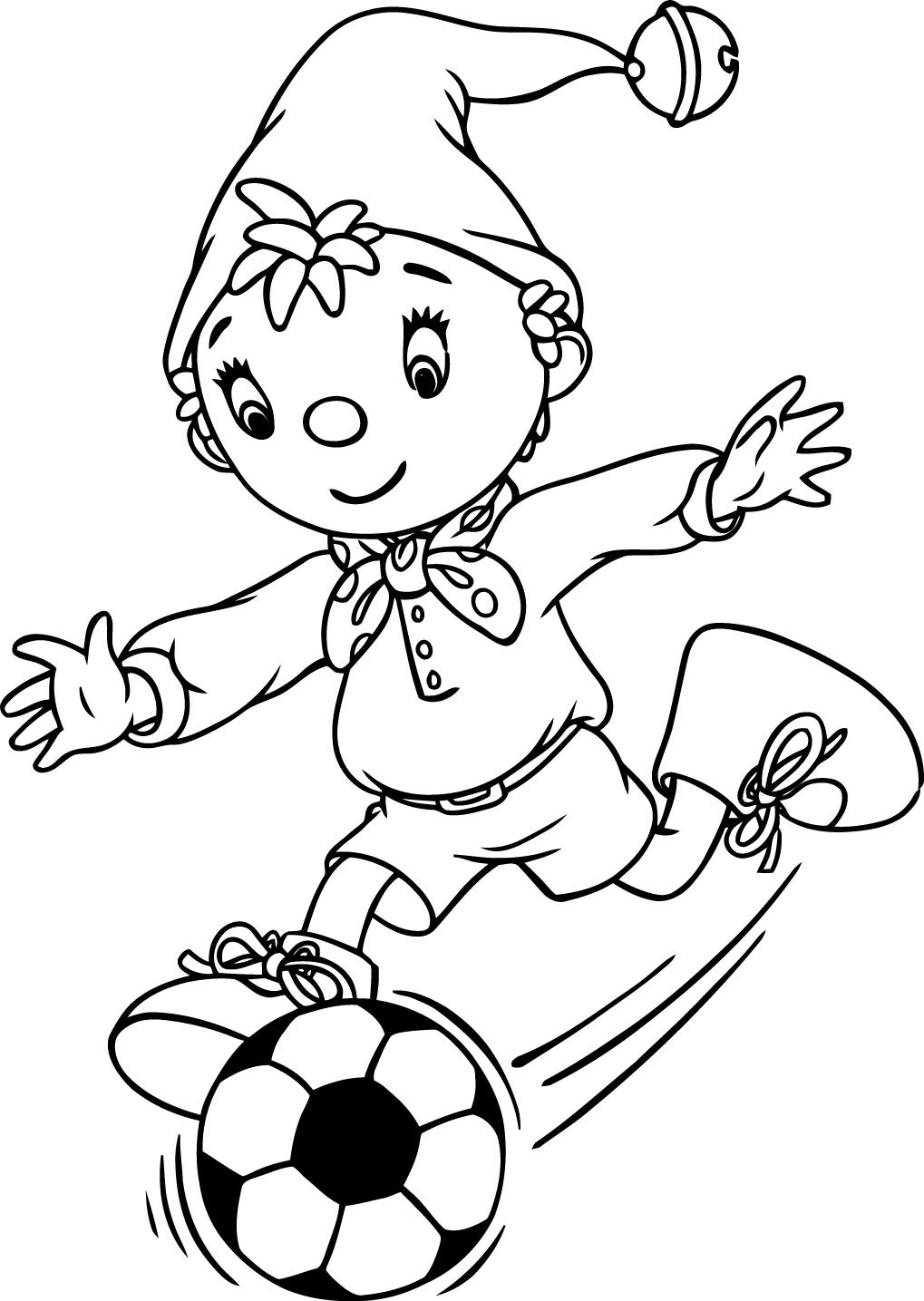 1019x1435 Nice Noddy 97 Play Football Coloring Page Mcoloring