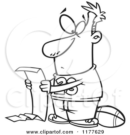 450x470 Cartoon Of An Outlined An Outlined Man Going Over A Long Honey Do