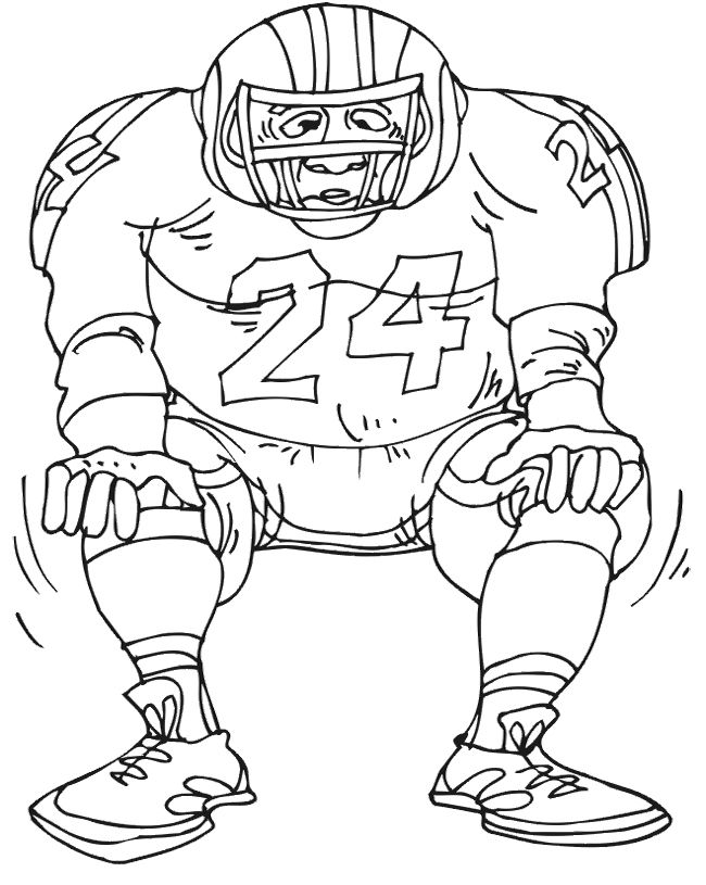 Football Player Drawing at GetDrawings.com   Free for personal use ...
