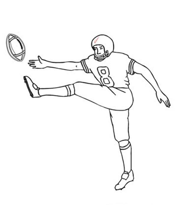 Football Player Drawing at GetDrawings.com | Free for personal use ...