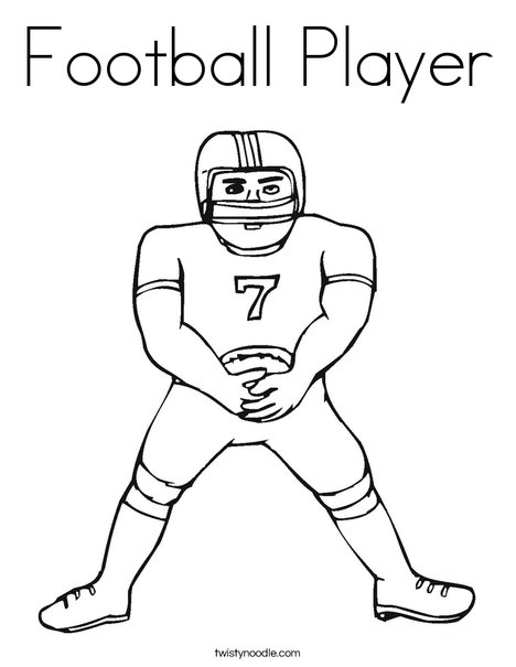 468x605 Football Player Coloring Page