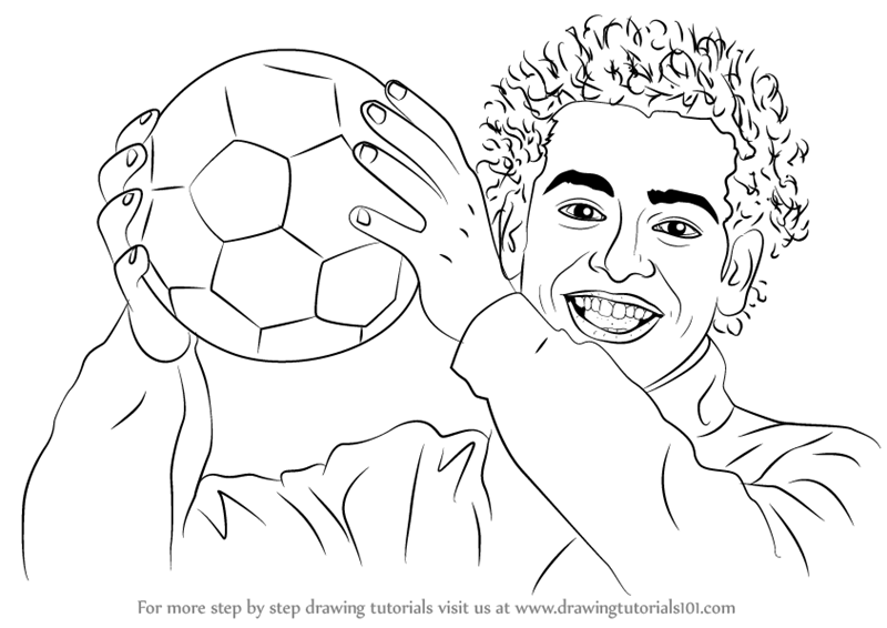 800x566 Learn How To Draw Mohamed Salah (Footballers) Step By Step