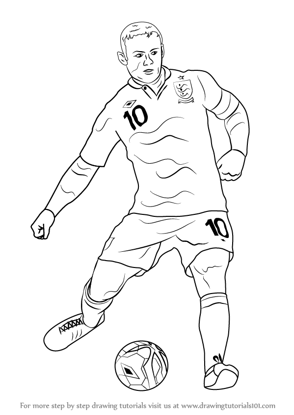599x844 Learn How To Draw Wayne Rooney (Footballers) Step By Step