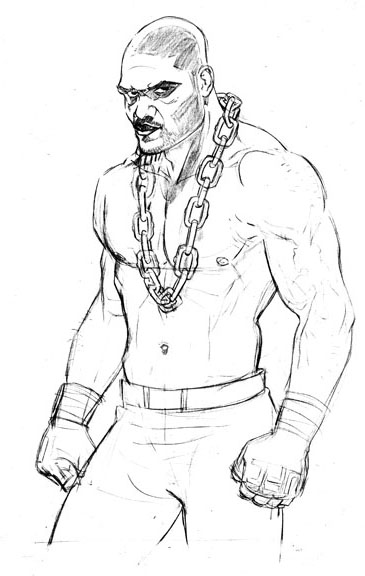 365x576 Mixed Martial Art A Step By Step Drawing Of Quinton
