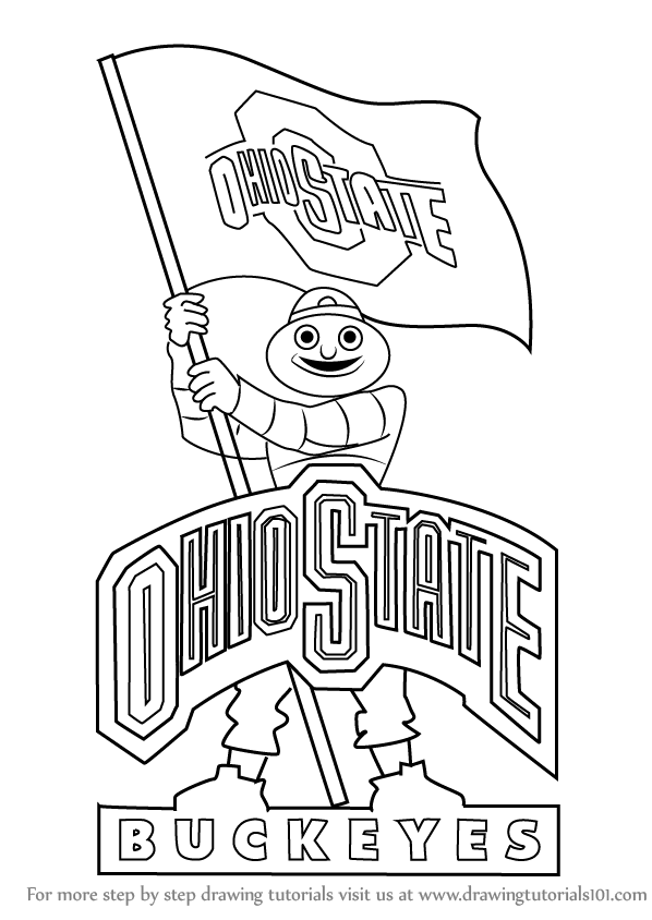 598x844 Ohio State Buckeyes Coloring Pages