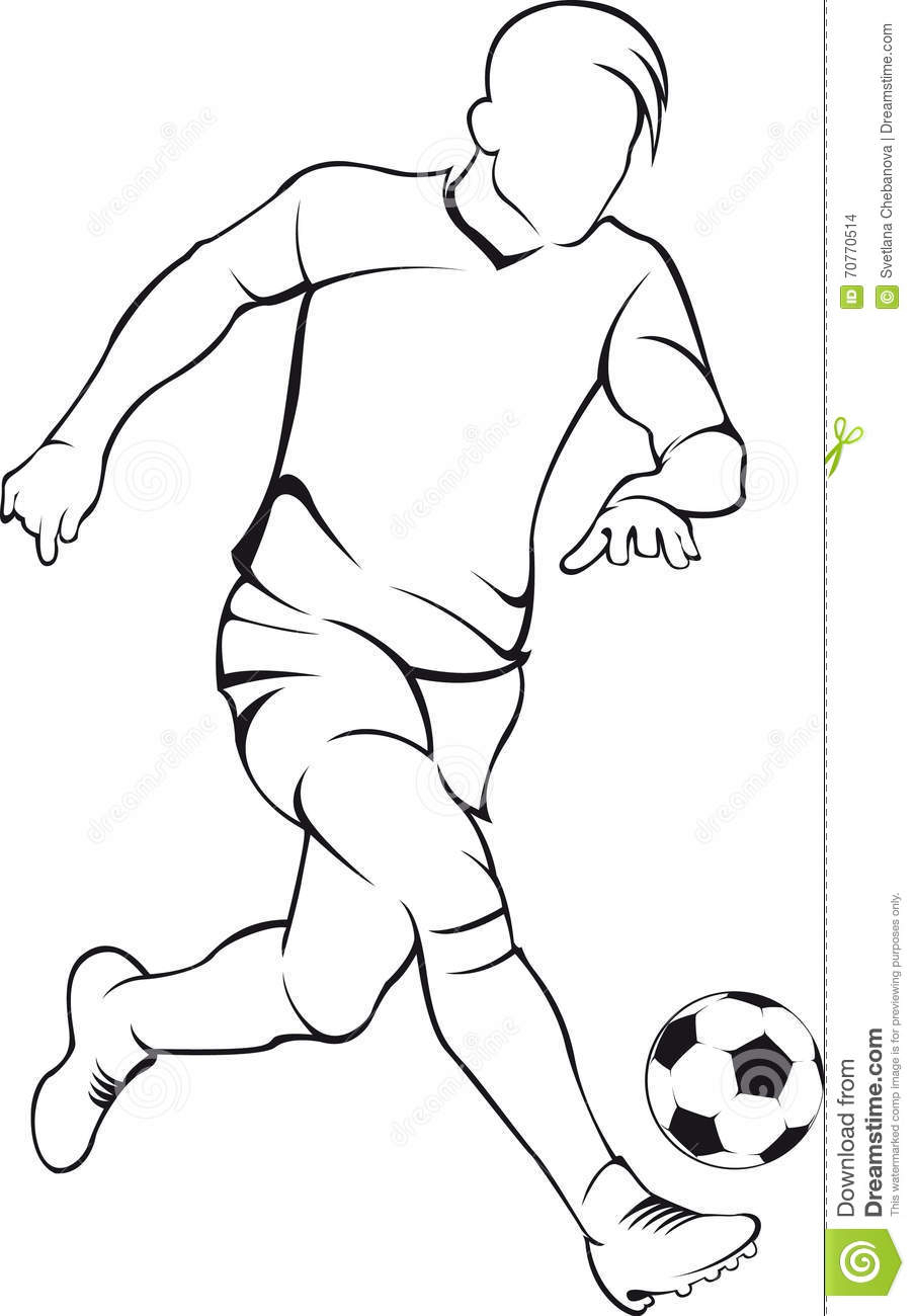 904x1300 Soccer Player Drawing