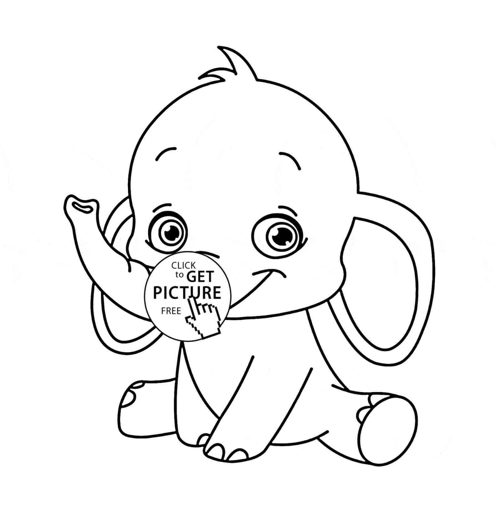 1586x1643 Baby Elephant Drawing For Kids. How Tot Draw An Elephant. Elephant