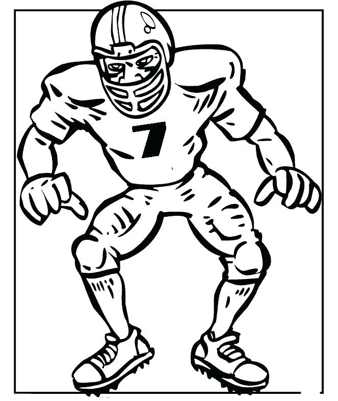 663x786 Coloring Pages Of Football Players Click To See Printable Version
