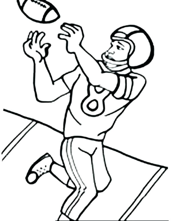 600x776 Coloring Pages Of Football Players Football Player Coloring Pages