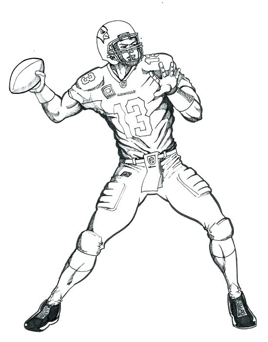 550x703 Coloring Pictures Of Football Players Football Coloring Pages