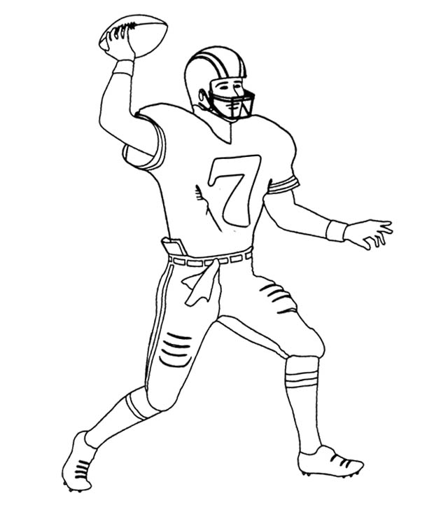 620x738 Football Player Coloring Pages