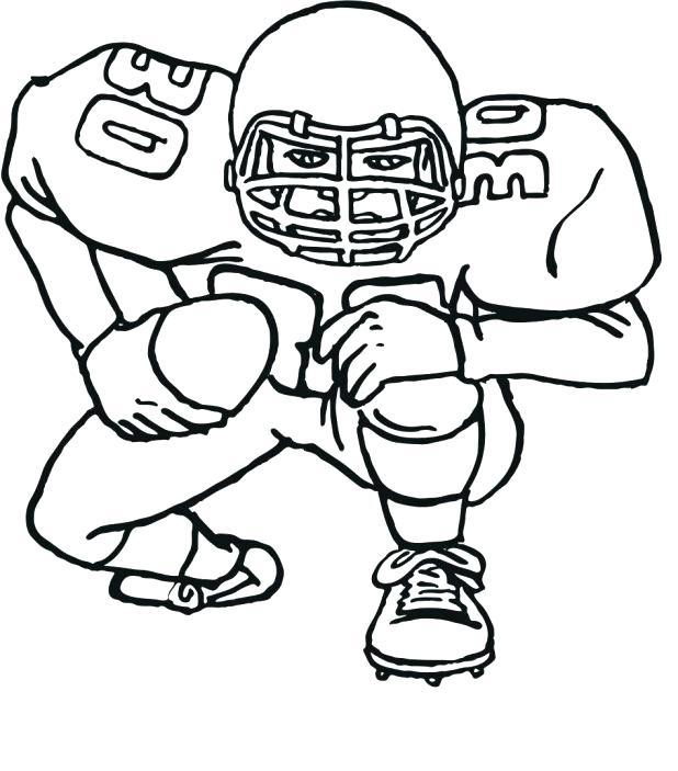 618x703 Football Printable Coloring Pages Football Player 2 Free Printable