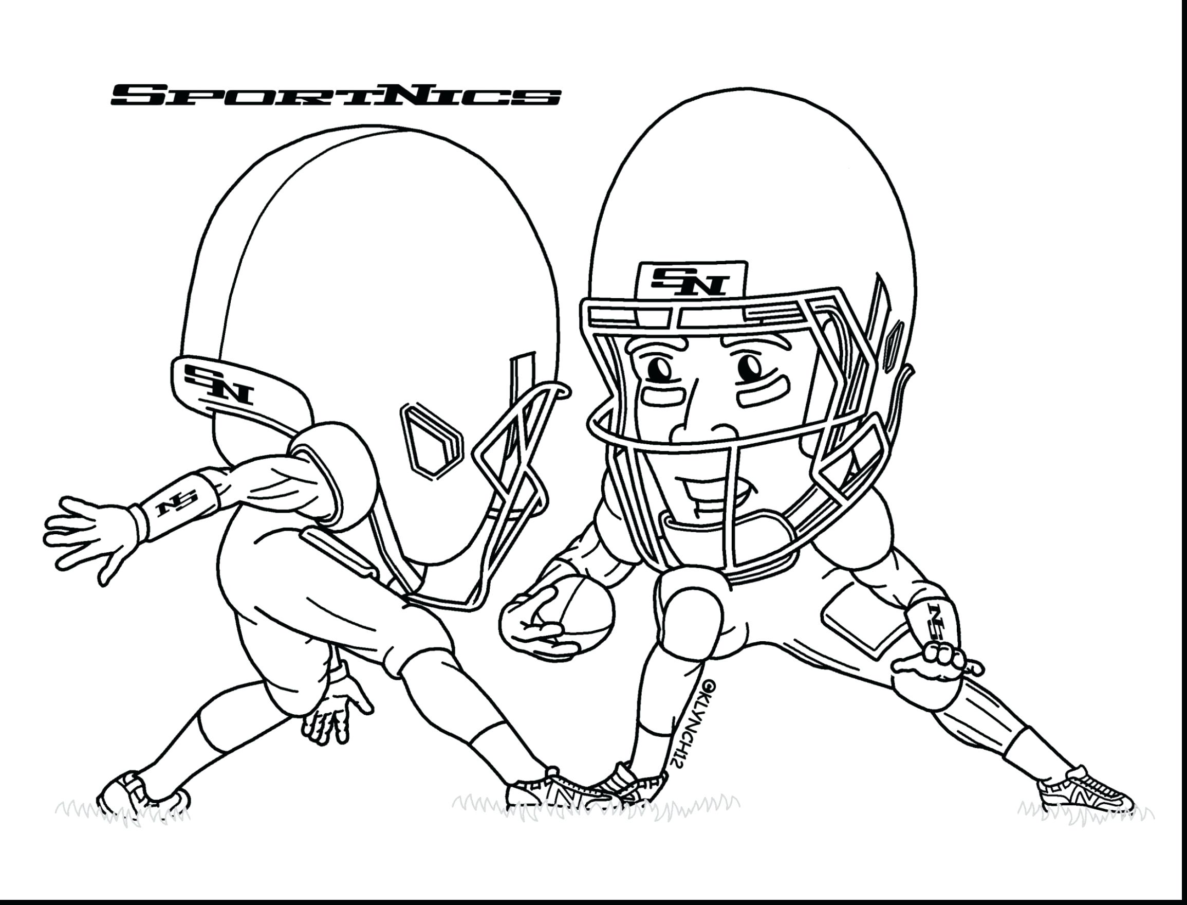 Football Player Line Drawing at GetDrawings.com | Free for personal ...