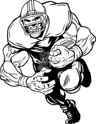 312x400 Mean Football Player Clipart
