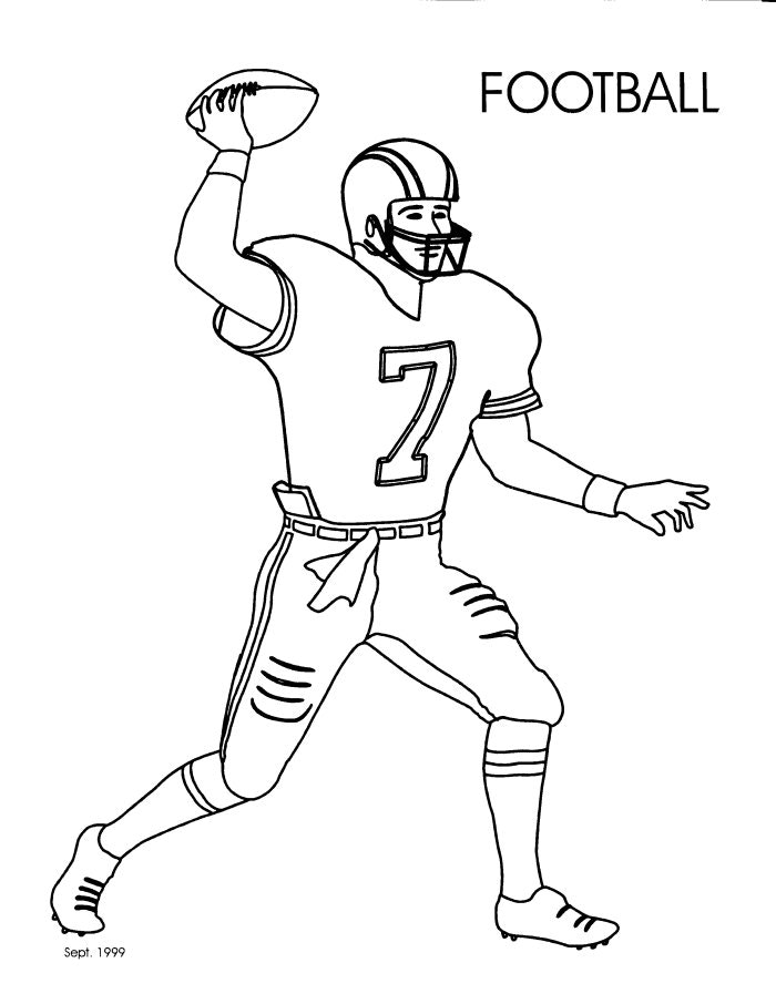 700x906 Amusing Football Player Coloring Page 94 In Picture Coloring Page