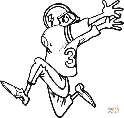 524x498 Surprising Football Player Coloring Page 13 For Line Drawings