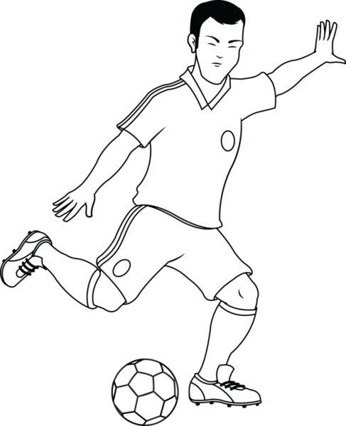 487x600 Vector Image Of A Footballer.
