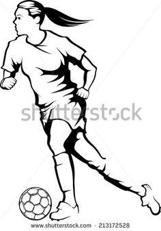 236x337 Drawn Girl Soccer