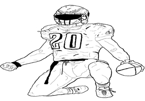 476x333 Foot Coloring Football Player Bending The Page Kids