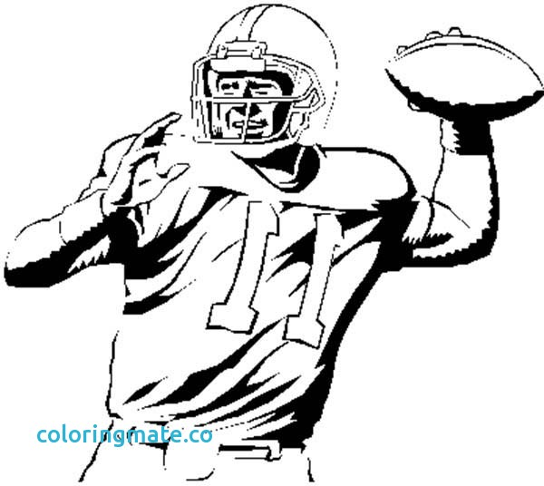 600x536 Football Coloring Page Best Football Players Coloring Pages