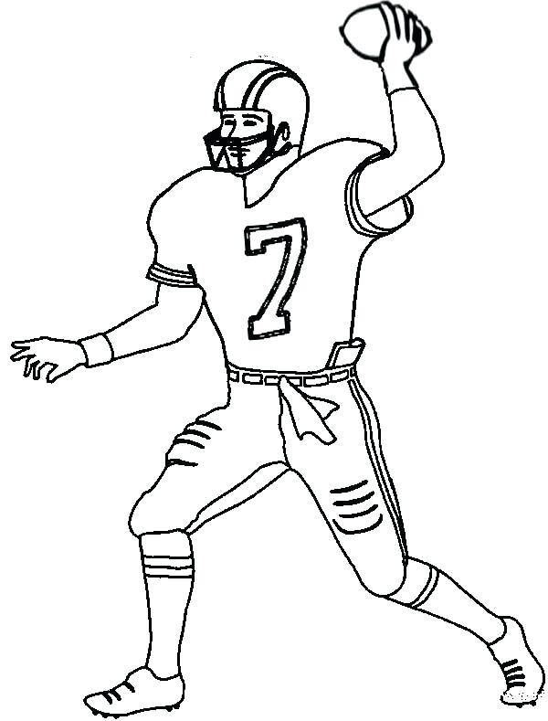 600x789 Football Coloring Pages As Football Coloring Sheets To Print 886
