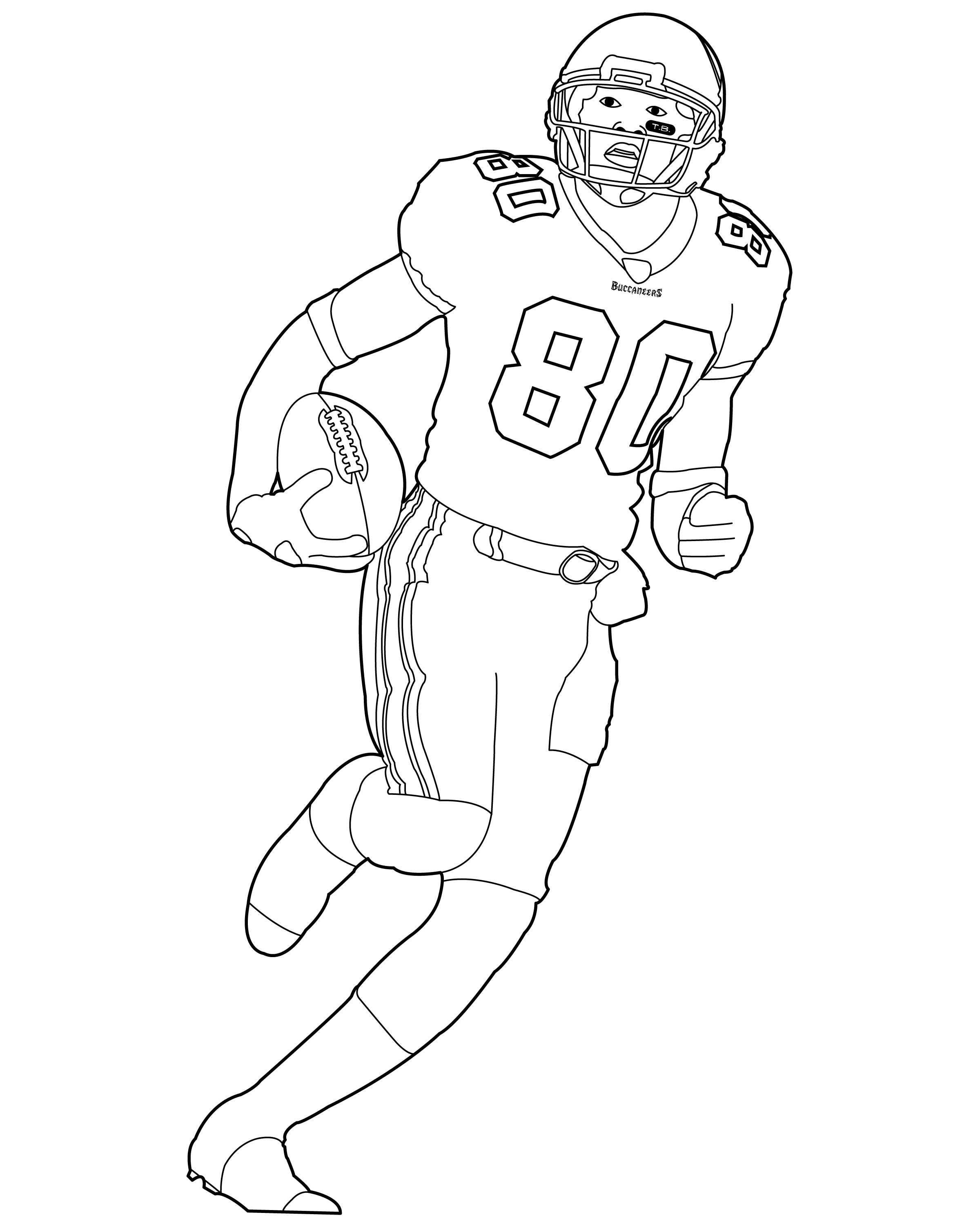 2400x3000 Football Player Drawing Group
