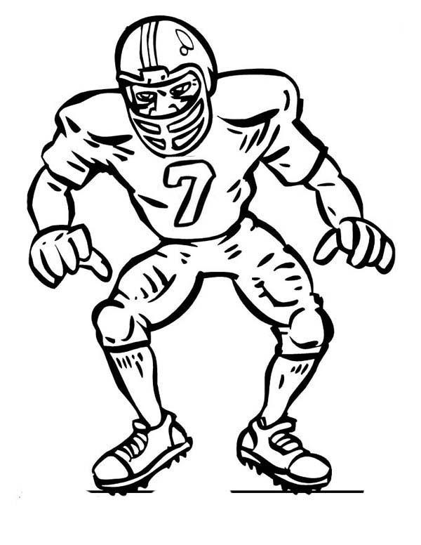 600x776 Football Player Drawings