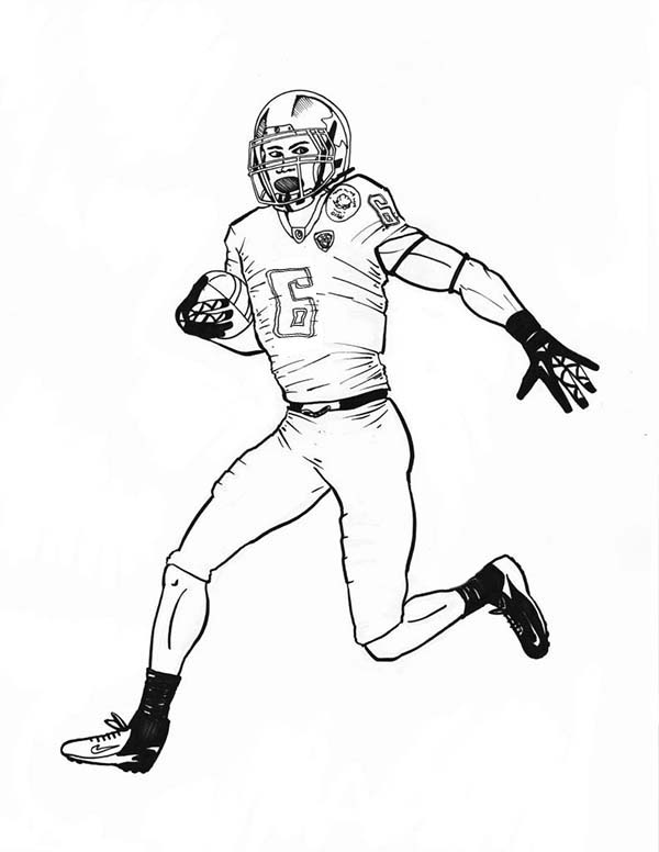 600x776 Nfl Football Player Coloring Pages Printable
