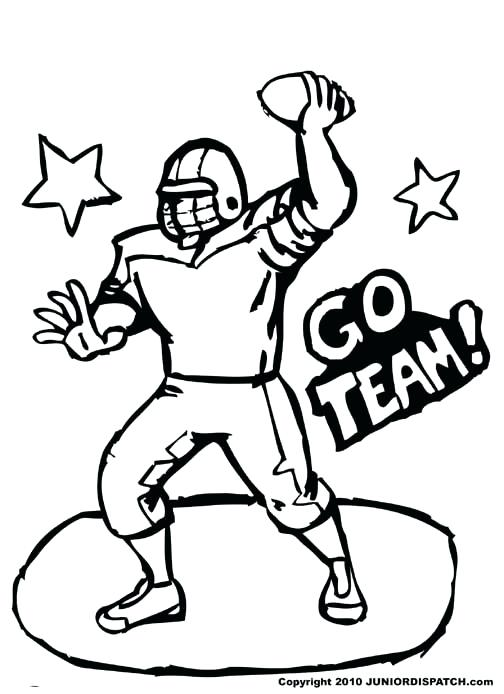 504x694 Pictures Of Football Players To Color Photo Courtesy Of Pictures