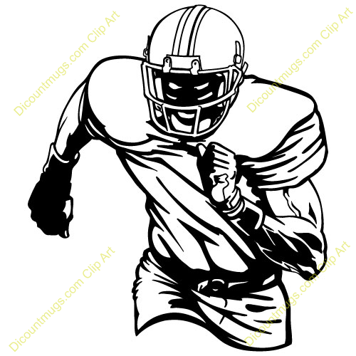 500x500 Youth Football Player Clipart