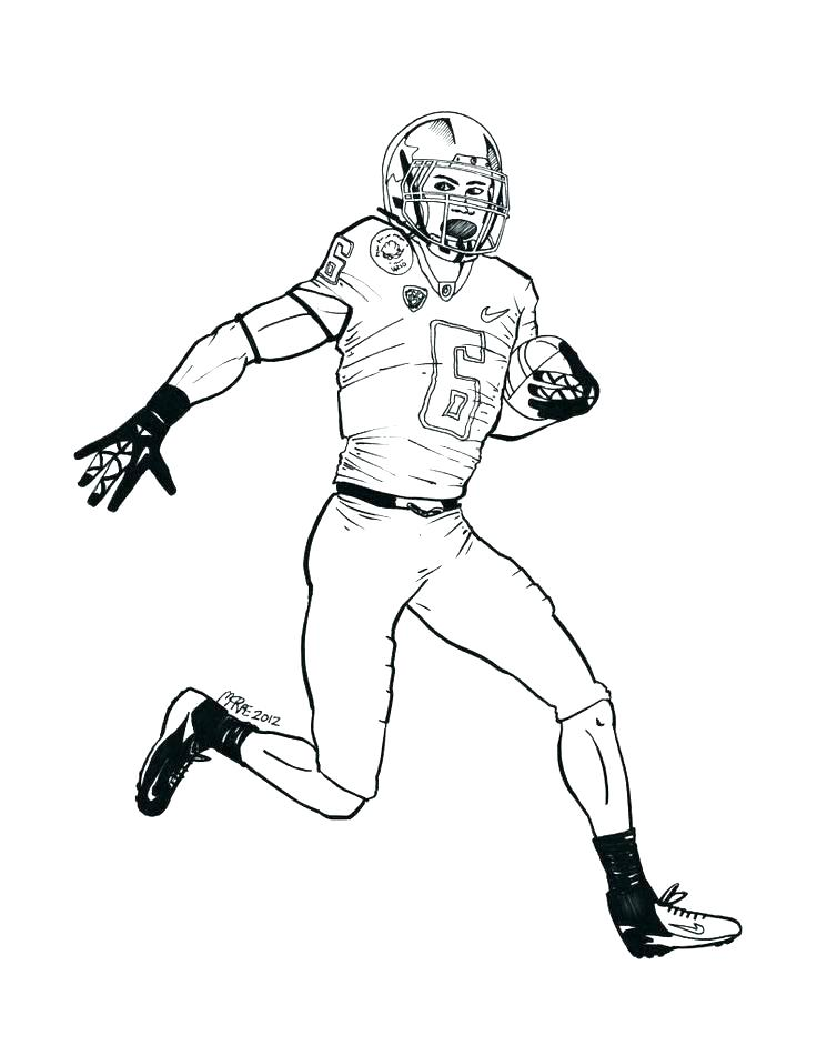 736x951 Coloring Pages Of Football Players Football Coloring Pages