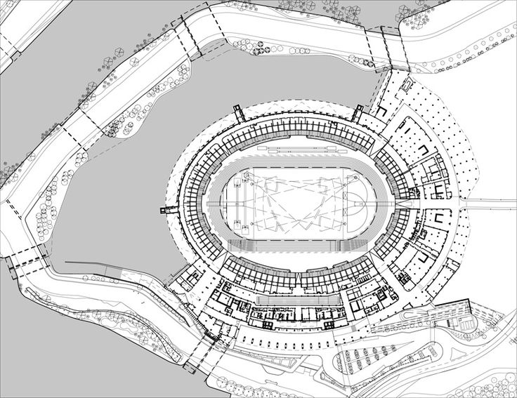 Football Stadium Drawing