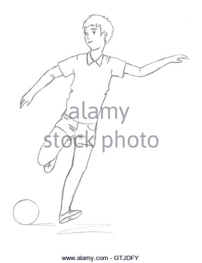 414x540 Soccer Sketch Black And White Stock Photos Amp Images