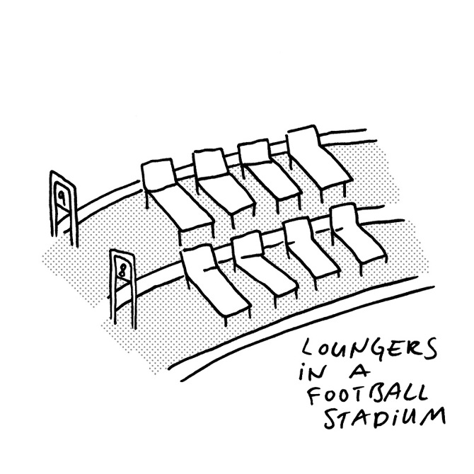 670x670 Loungers In A Football Stadium