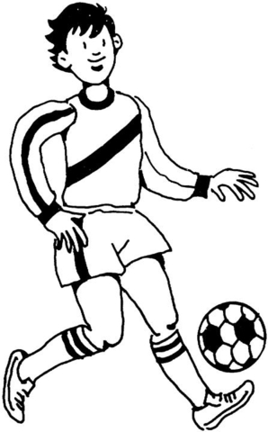 298x480 Footballer (Soccer Player) Coloring Page Free Printable Coloring