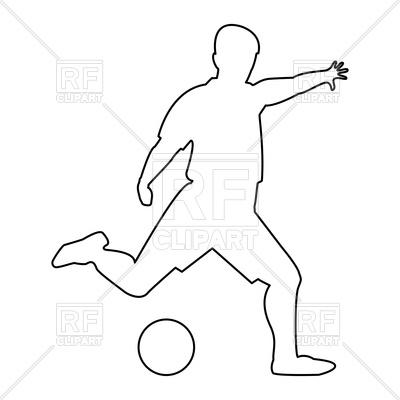 400x400 Footballer Outline Icon Royalty Free Vector Clip Art Image