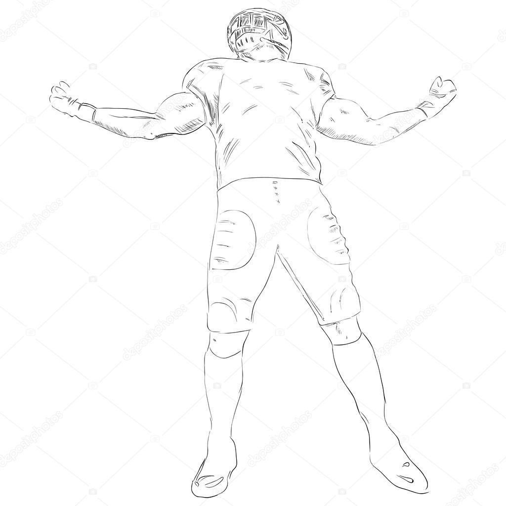 1024x1024 Footballer Stock Vector Vipdesignusa
