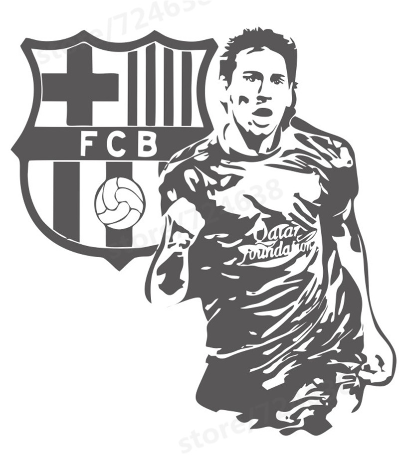 800x915 Free Shipping Sports Footballer Wall Stickers Kids Boys The Year