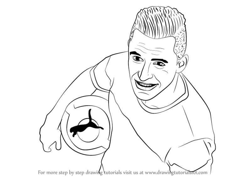 800x566 Learn How To Draw Alexis Sanchez (Footballers) Step By Step