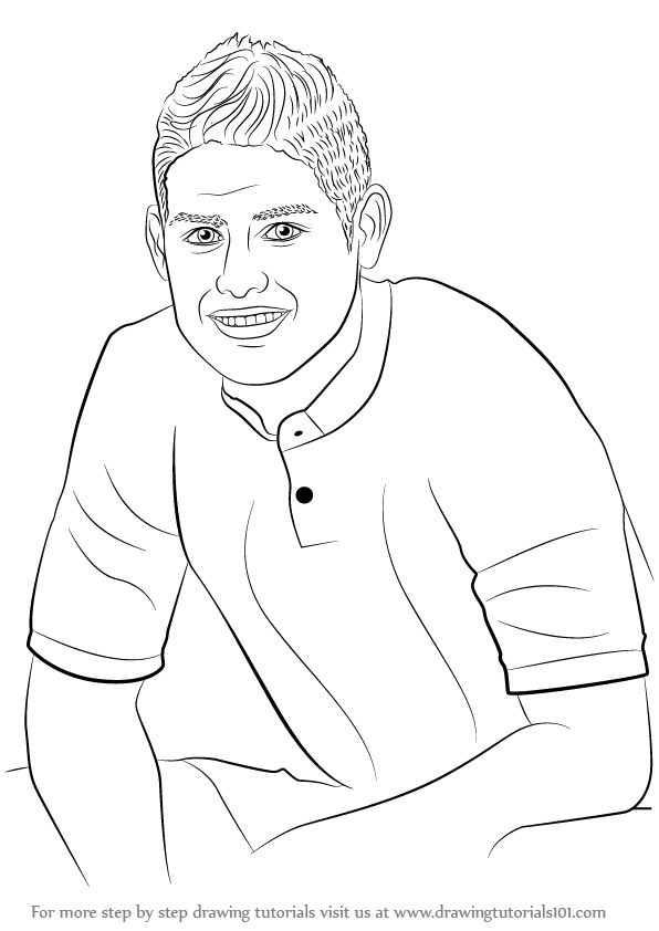 596x842 Learn How To Draw James Rodriguez (Footballers) Step By Step