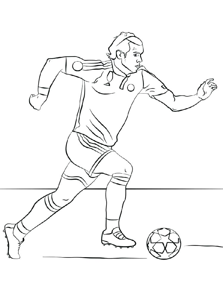 750x1000 Soccer Players Coloring Pages Astounding Soccer Player Coloring