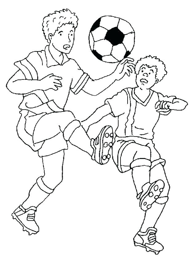 618x834 Soccer Player Coloring Pages