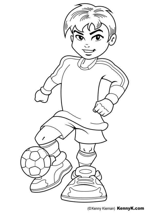 620x875 Coloring Page Soccer Player