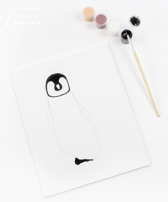 680x818 Footprint Penguin Penguin Chick Footprint Art, A Fun And Easy